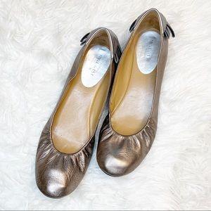 Nine West Gold Lucasta Ballet Flat Size 10 M